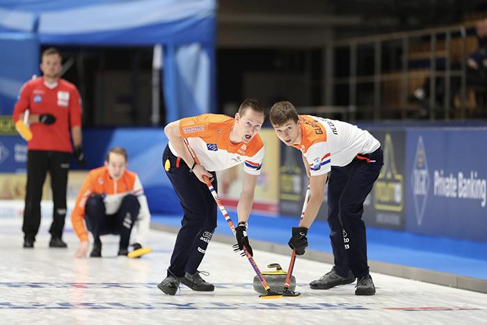 Nederlands herenteam EK Curling 2019