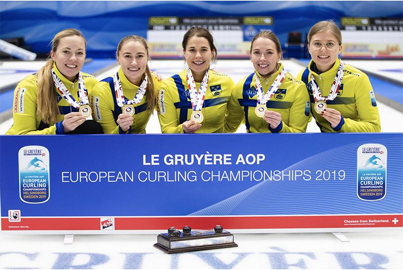 EK2019 Curling zweeds damesteam